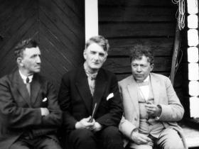 Sven Moren, Johan Falkberget og Oskar Braaten